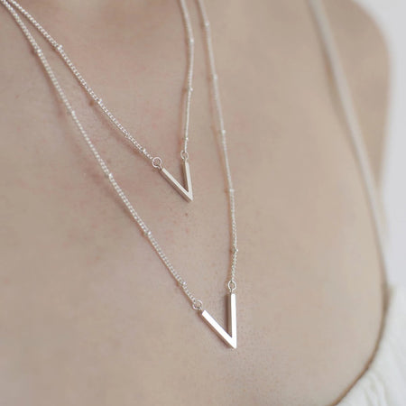 Layered Chevron Necklace - By Nordvik