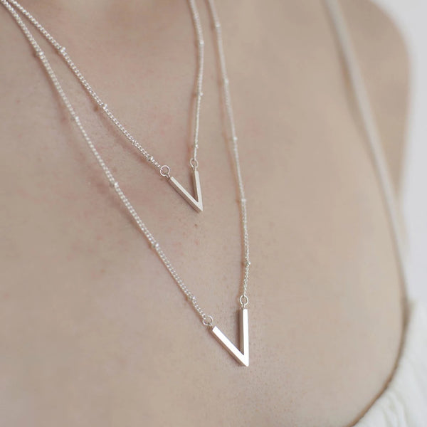 Layered Chevron Necklace Minimalist - By Nordvik