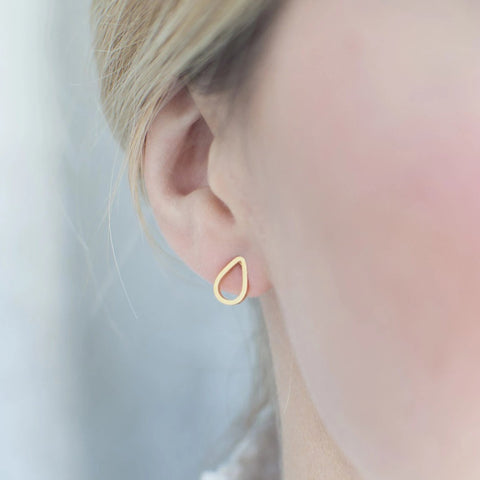 Drop Stud Earrings Minimalist - By Nordvik