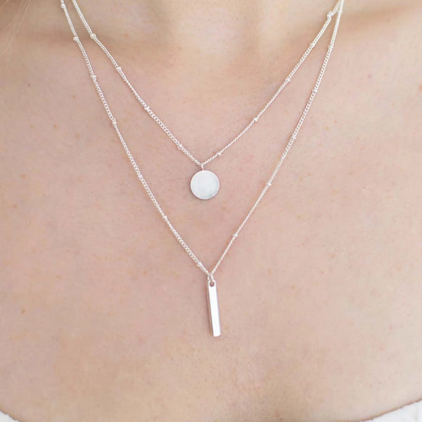 Layered Geometric Necklace - By Nordvik