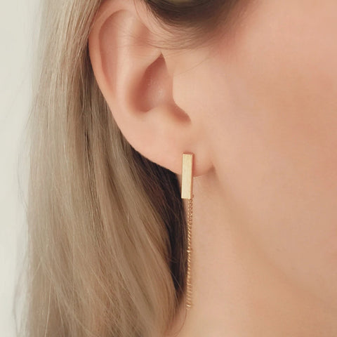 NEW Bar Chain Earrings - By Nordvik