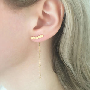 NEW Mini Circle Chain Earrings - By Nordvik