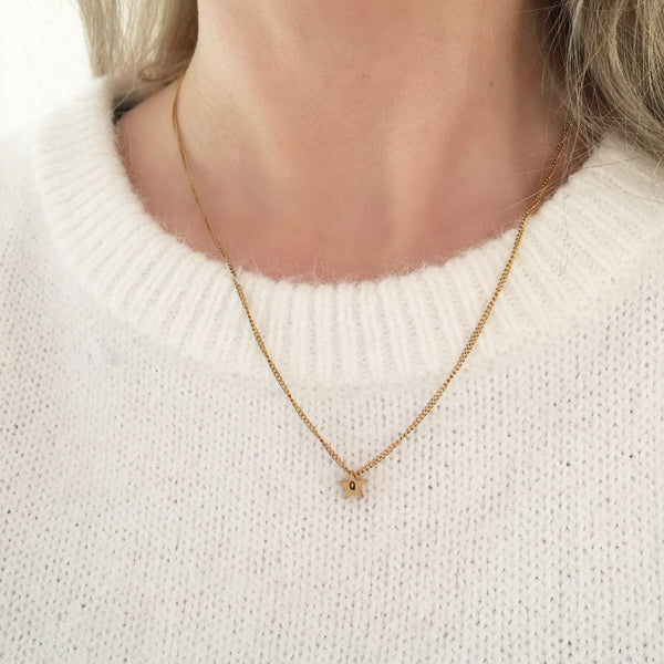 NEW Minimal Initial Star Necklace - By Nordvik