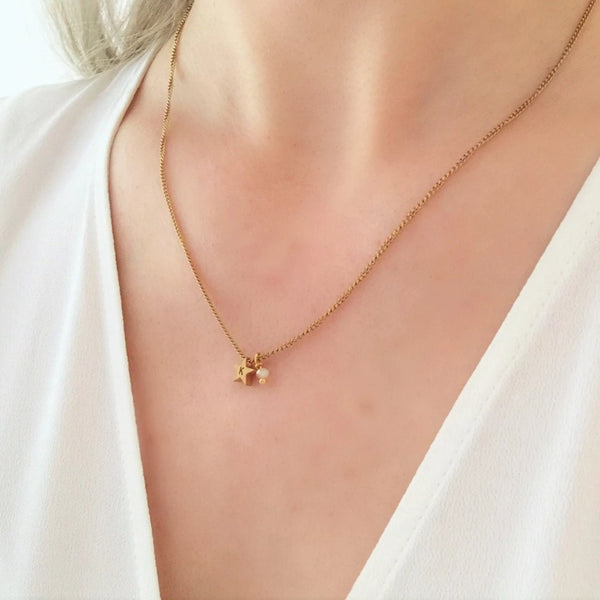 NEW Initial Star Charm Necklace - By Nordvik