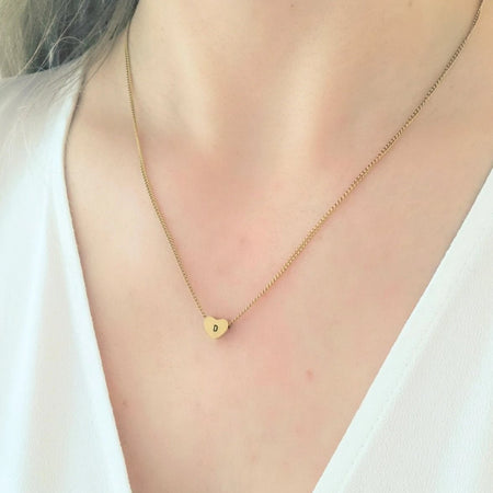 NEW Simple Initial Heart Necklace - By Nordvik