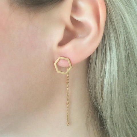 Geometric Chain Earrings - By Nordvik