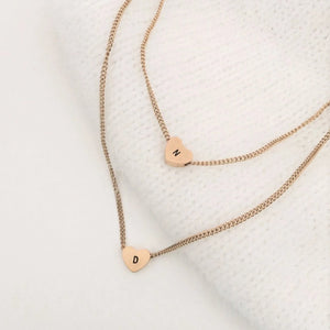 NEW Double Initial Heart Necklaces - By Nordvik