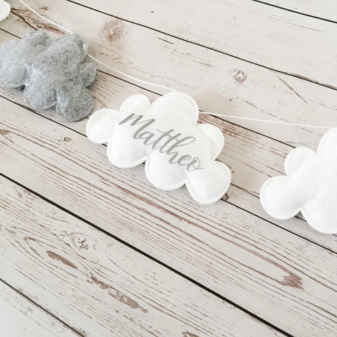 Nordic Cloud Baby Garland