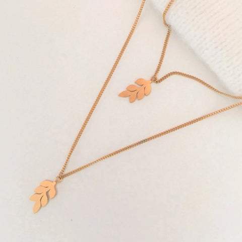 NEW Vertical Leaf Necklaces - By Nordvik