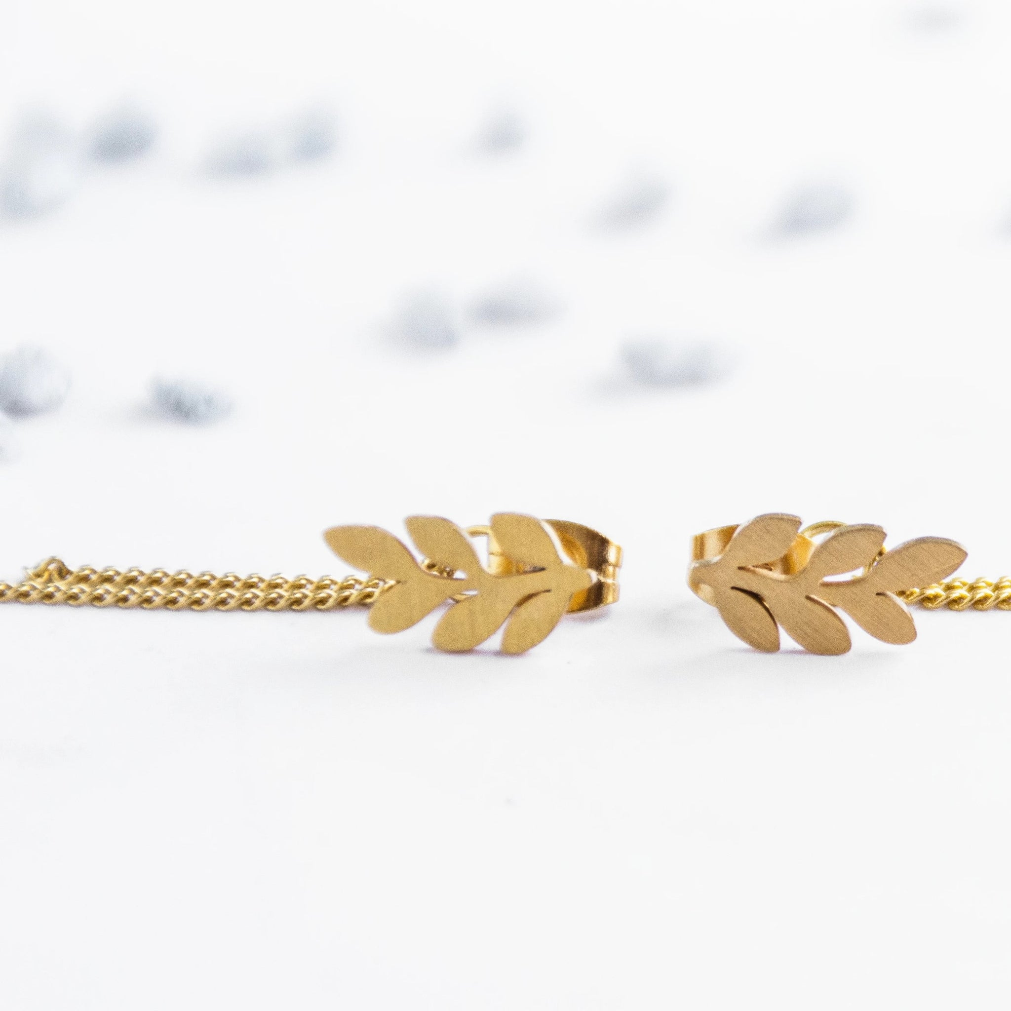 Leaf Stud Earrings - By Nordvik