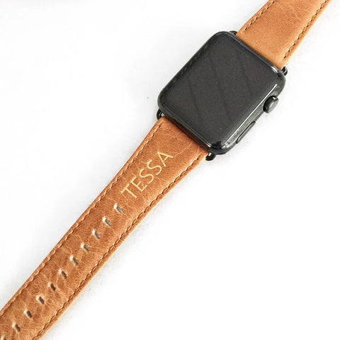 Personalized Apple Watch Leather Strap