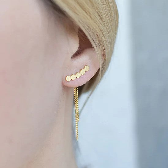 Mini Circle Stud Earrings - By Nordvik