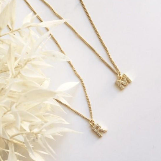 NEW Crystal Initial Necklace - By Nordvik