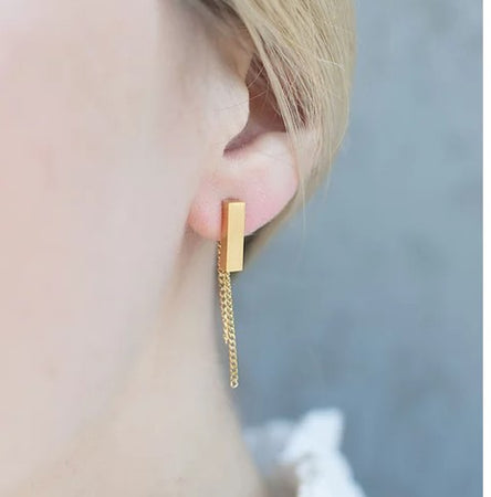 Bar Stud earrings - By Nordvik