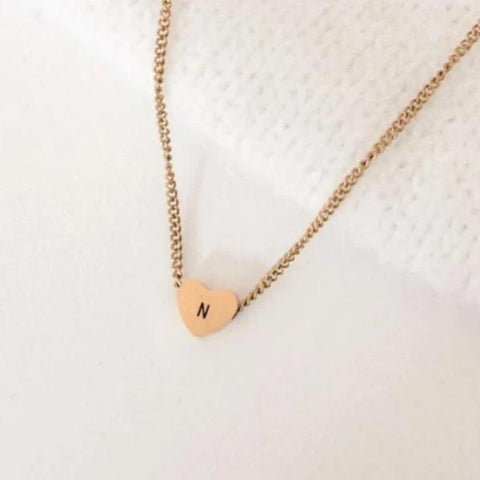 NEW Simple Initial Heart Necklace