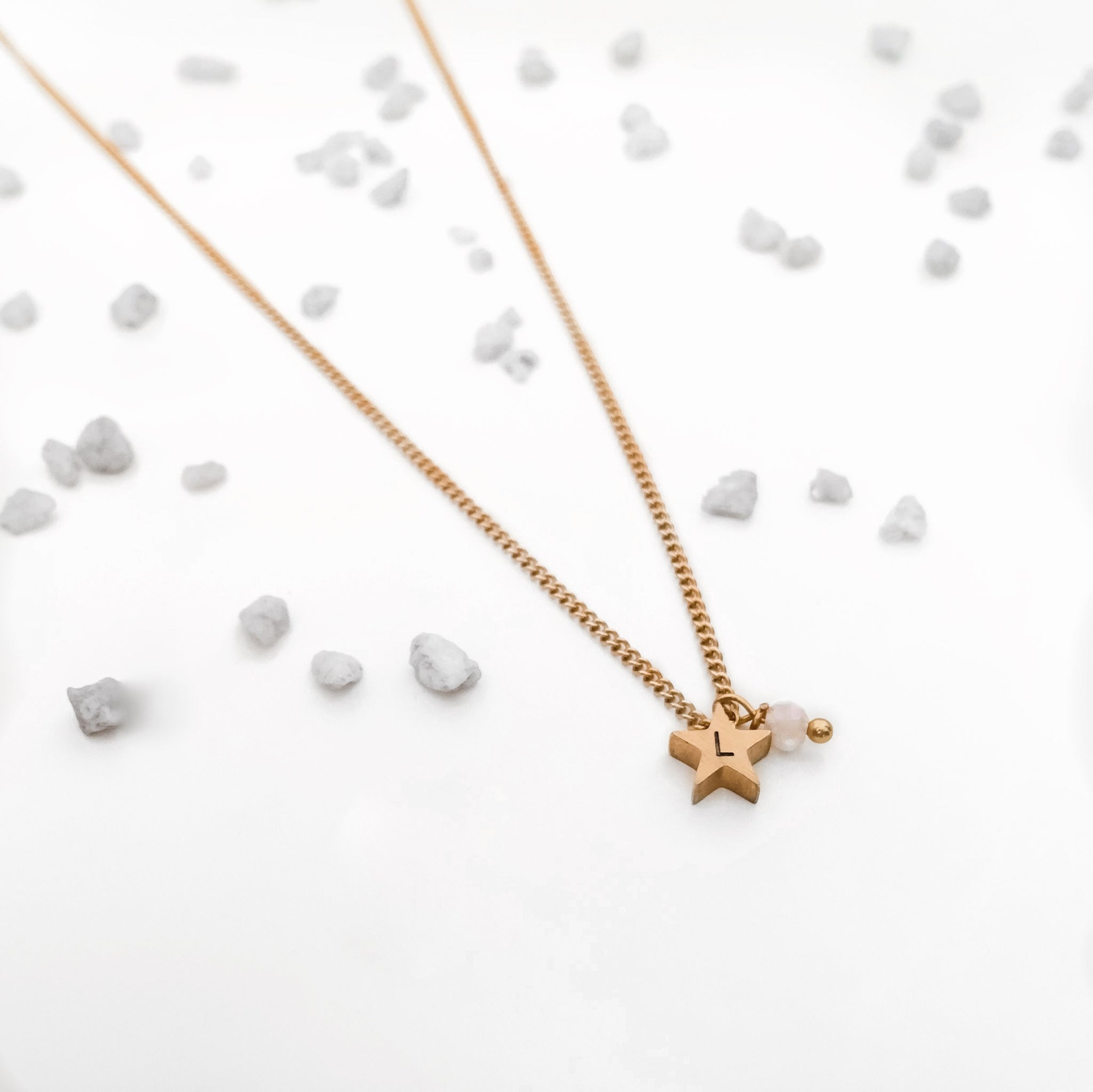 Initial Star Charm Necklace - By Nordvik