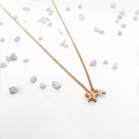 Initial Star Charm Necklace