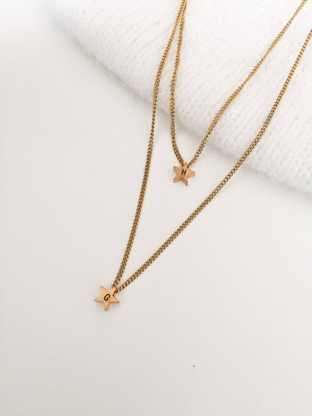 NEW Double Initial Star Necklace - By Nordvik