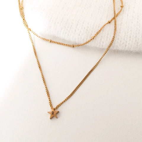 NEW Layered Initial Star Necklace - By Nordvik