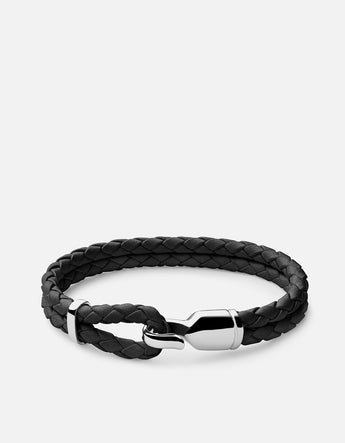 Bracelet - Single Trice w/sleeve, Sterling Silver, Pol, Black