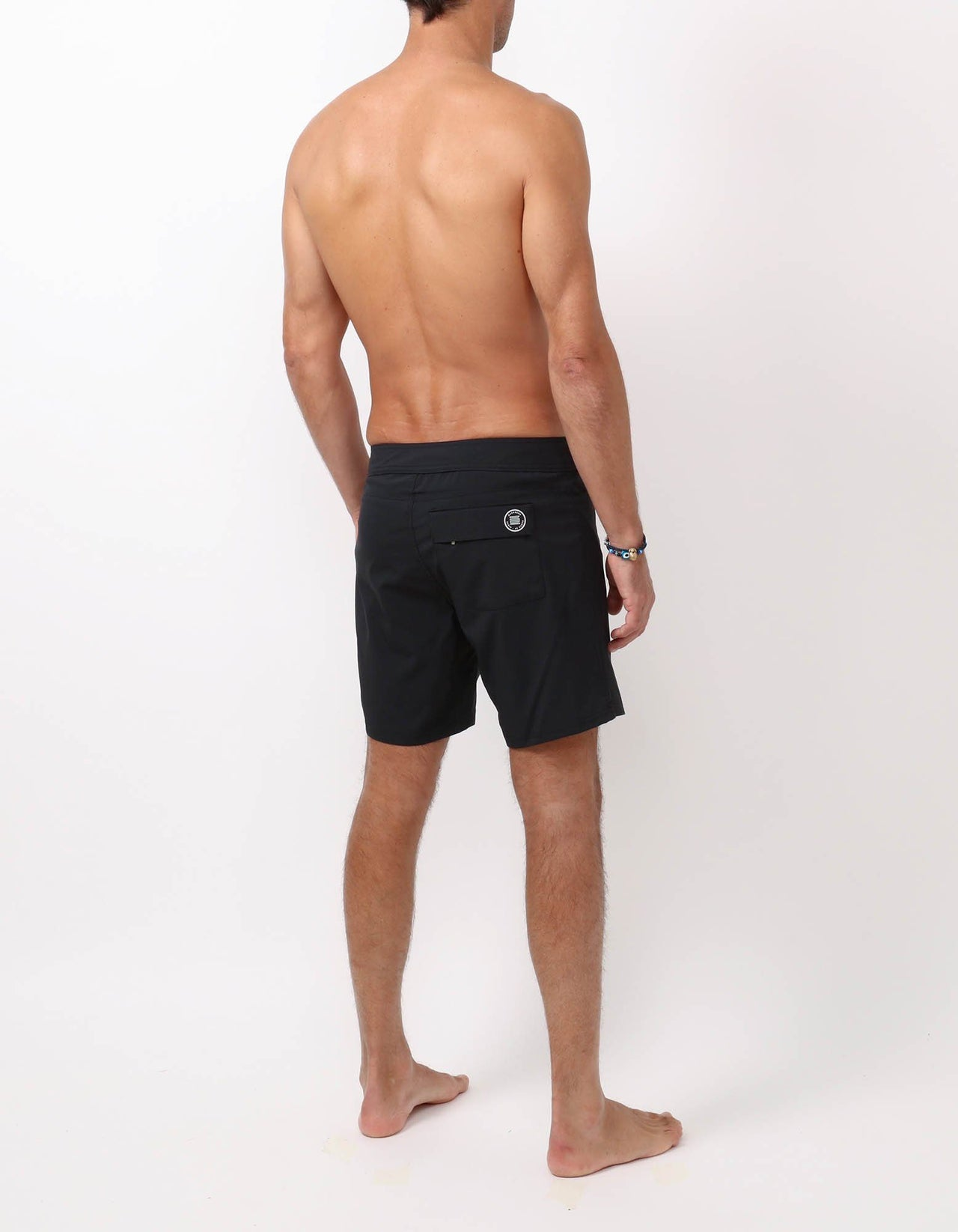 Barth4 - 00. Black Swim Shorts - Barth4 MACKEENE
