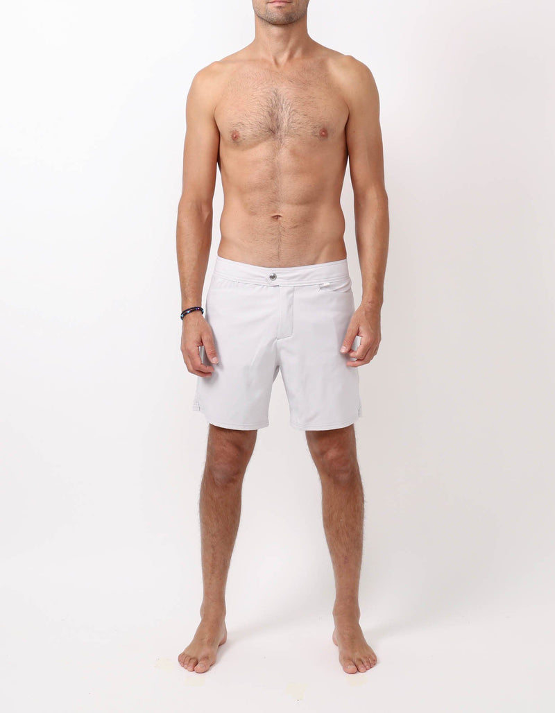 Barth4 - 00. Light Grey Swim Shorts - Barth4 MACKEENE