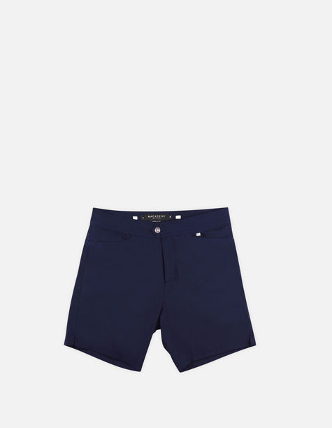 Barth4 - 00. Navy Swim Shorts - Barth4 MACKEENE