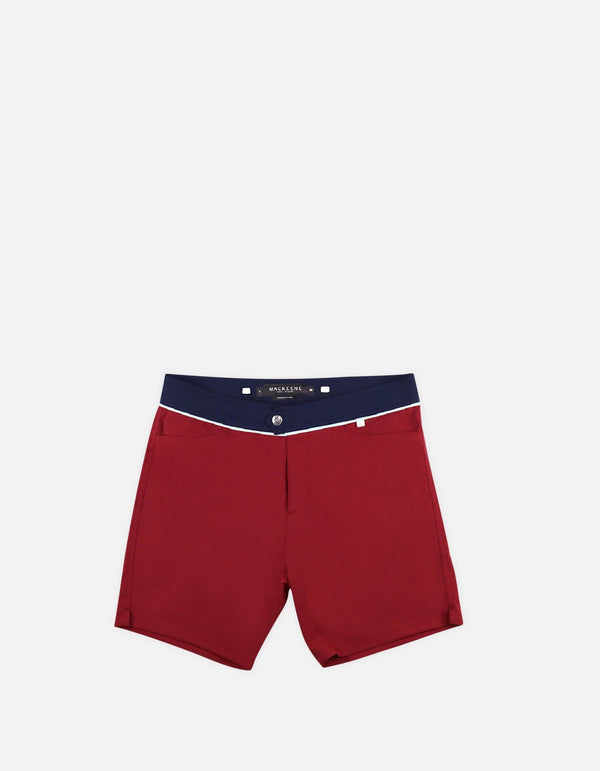 Barth4 - 01. Shorts de bain Bordo & Navy - Barth4 MACKEENE
