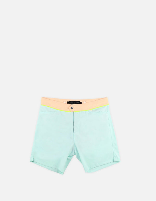Barth4 - 03. Sky & Peach Light Swim Shorts - Barth4 MACKEENE