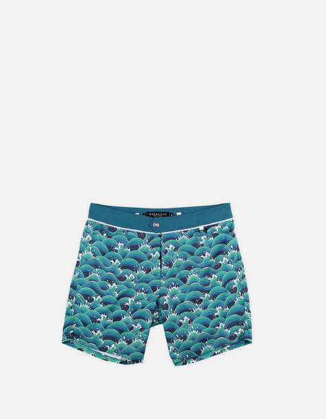 Barth4 - P01. Manga Waves & Duck Swim Shorts - Barth4 MACKEENE