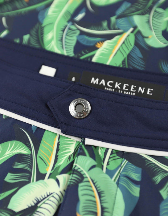 Barth4 - P03. Bold Tropic & Navy Swim Shorts - Barth4 MACKEENE