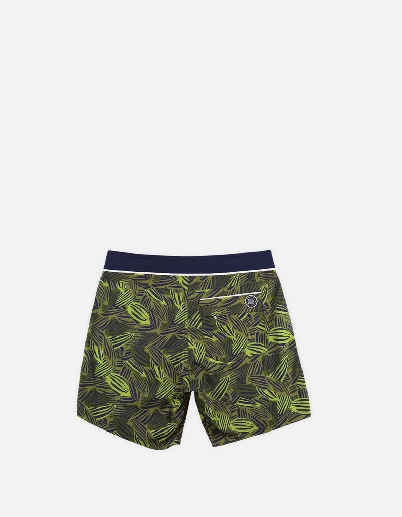 Barth4 - P04. Green Feve & Navy Swim Shorts - Barth4 MACKEENE