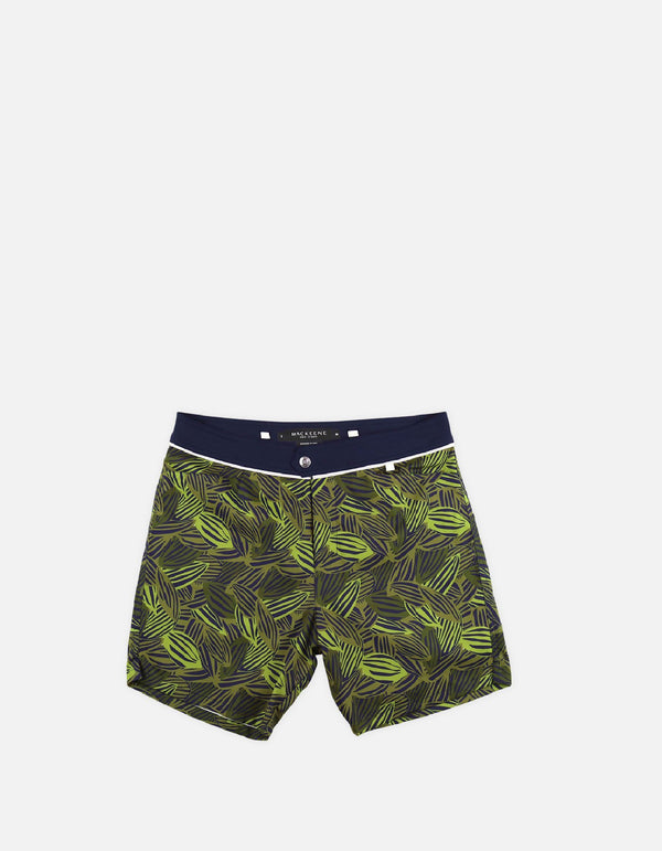 Barth4 - P04. Green Feve &navy swim shorts - Barth4 MACKEENE