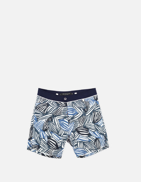 Barth4 - P05. Petrol Feve & Navy Swim Shorts - Barth4 MACKEENE