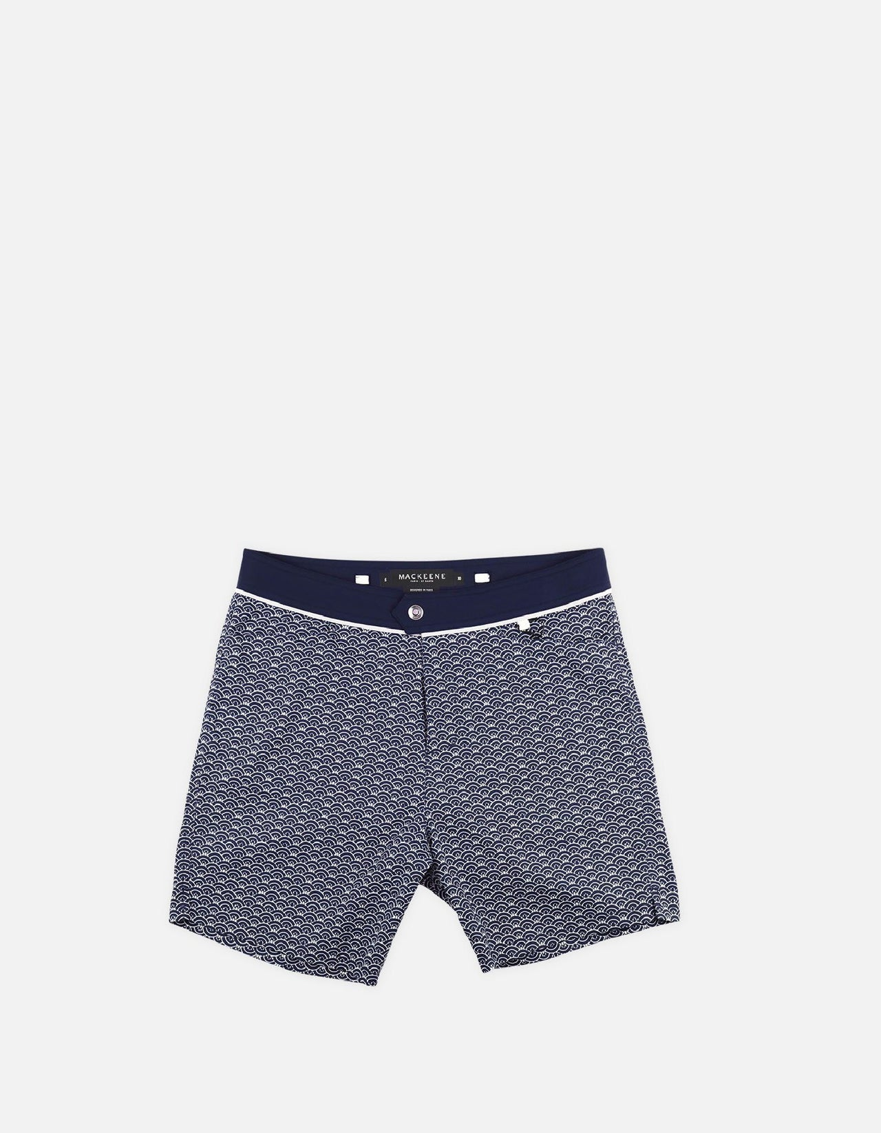 Barth4 - P06. Petrol Scales & Navy Swim Shorts - Barth4 MACKEENE
