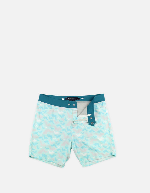 Barth4 - P07. St Bat Turquoise & Duck Swim Shorts - Barth4 MACKEENE