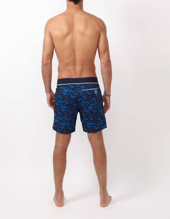 Barth4 - P09. St Bat Navy & Navy Swim Shorts - Barth4 MACKEENE