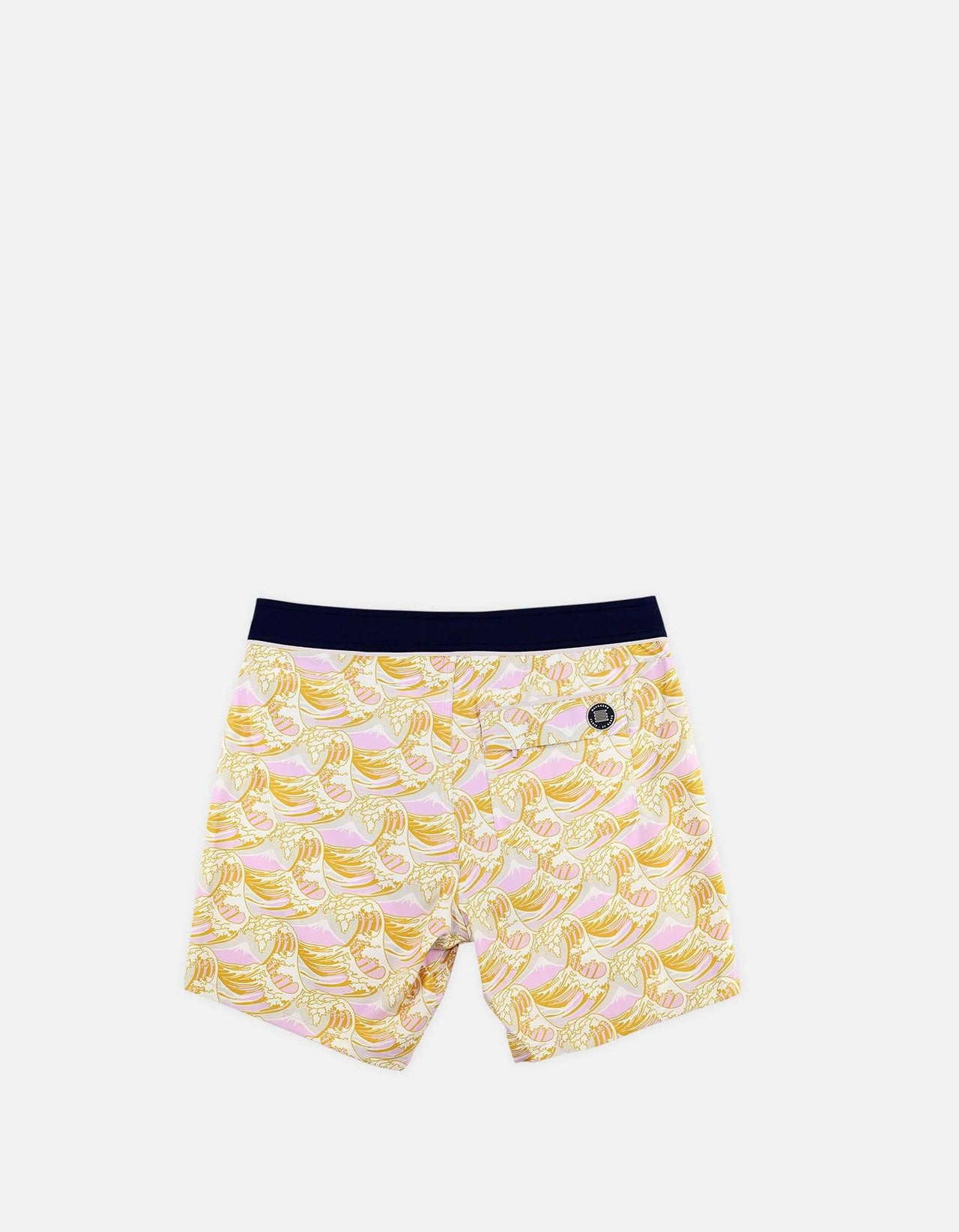 Barth4 - P10. Hokusai 70th & Navy Swim Shorts - Barth4 MACKEENE