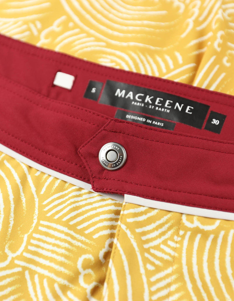 Barth4 - P11. Windy Mustard & Navy Swim Shorts - Barth4 MACKEENE
