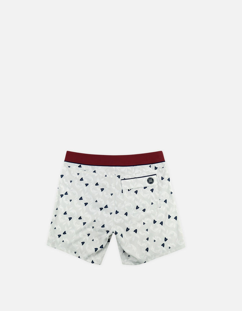 Barth4 - P14. Fish Grey & Fluo Swim Shorts - Barth4 MACKEENE