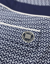 Barth4 - P16. Chevron Navy & Navy Swim Shorts - Barth4 MACKEENE