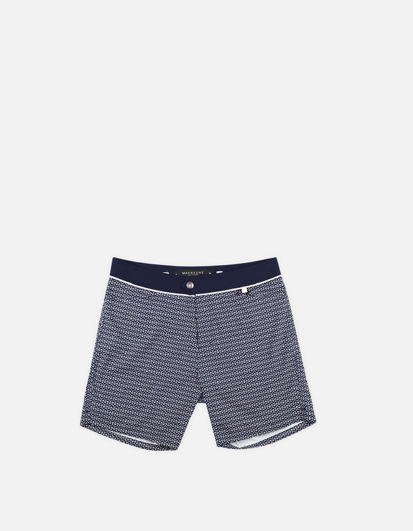 Barth4 - P16. Short de bain Chevron Navy & Navy - Barth4 MACKEENE