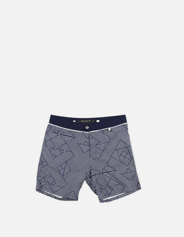 Barth4-P17. Tron Navy & Navy Swim Shorts-Barth4 MACKEENE