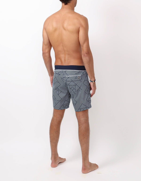 Barth4 - P17. Tron Navy &navy swim shorts - Barth4 MACKEENE