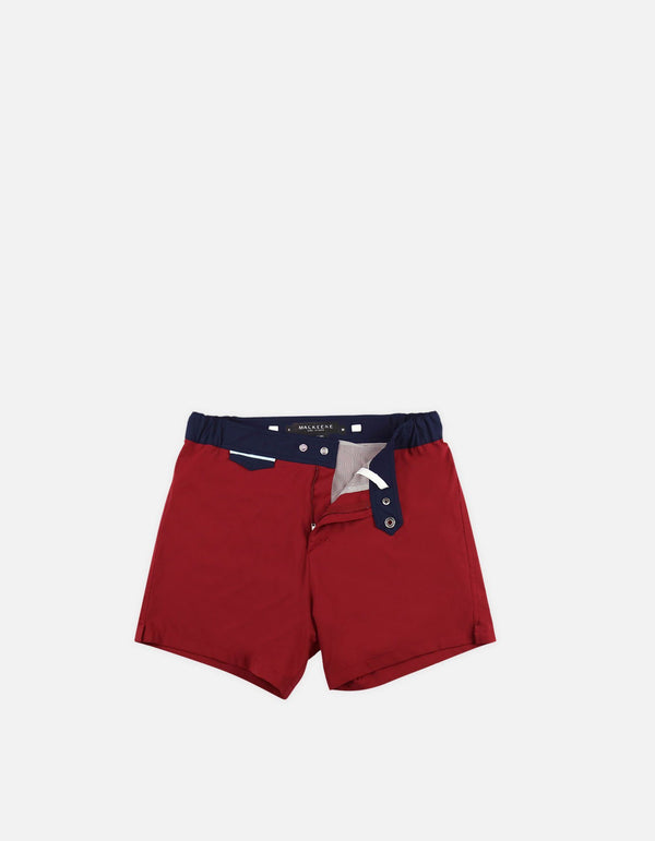 Gize - 01. Bordo & Navy Swim Shorts - Gize MACKEENE