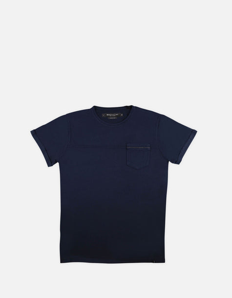 Jef RS - 01. Navy Cotton T-Shirts - Jef RS MACKEENE