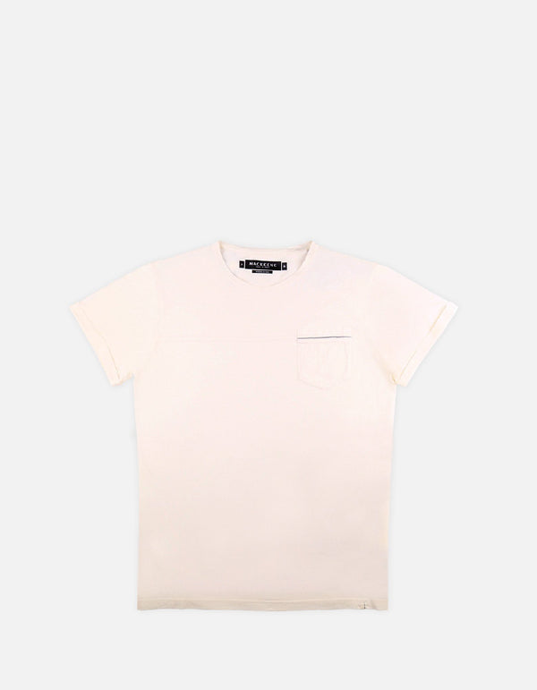 Jef RS - 02. Ecru Cotton T-Shirts - Jef RS MACKEENE