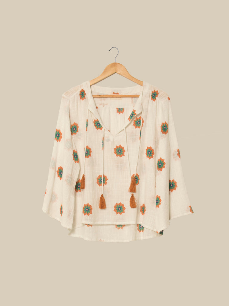 Laila blouse in Vintage Flower Coral