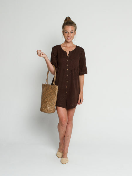 Gina Playsuit in Chocolate