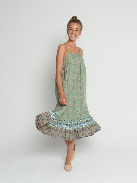 Isla dress in Basil print